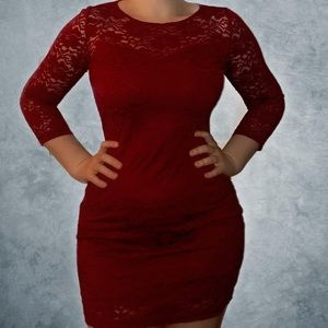 Sexy Lace Red Dress